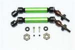 GPM Green Steel & Aluminum Front CVD Driveshaft Set w/Hex for 4x4 Slash Rustler Stampede Rally