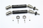 GPM Black Stainless Steel & Aluminum Front CVD Driveshaft Set w/Hex for 4x4 Slash Rustler Stampede Rally