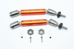 GPM Orange Stainless Steel & Aluminum Front CVD Driveshaft Set w/Hex for 4x4 Slash Rustler Stampede Rally