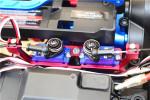 GPM Green Aluminum Servo Mounts for Diff Lock Servos in TRX-4