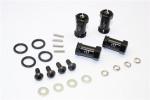 GPM Black Aluminum 17mm Extension Hubs w/12mm Hex for 4x4 Slash Stampede Rustler