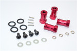 GPM Red Aluminum 17mm Extension Hubs w/12mm Hex for Slash & Stampede 4x4