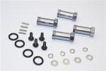 GPM Gunmetal Aluminum 25mm Extension Hubs w/12mm Hex for Slash & Stampede 4x4