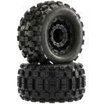 Pro-Line Badlands MX28 2.8 Tires on F-11 Black Wheels w/17mm Hex