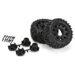 Pro-Line Trencher LP 2.8 Low Profile Tires on Raid Black 6x30 Fr/Rr Wheels (2)