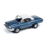 Auto World Thunderjet R25 1962 Chevy Impala Convertible Blue HO Slot Car