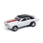 Auto World Thunderjet R25 1970 Chevy Chevelle SS White HO Slot Car