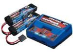 Traxxas Dual EZ-Peak Charger & 2x 2S 7600mAh LiPo Battery Completer (2991)