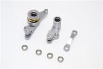 GPM Gunmetal Aluminum Steering Bellcrank & Servo Saver for 4x4 Slash Rustler Stampede Rally