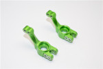 GPM Green Aluminum Rear Stub Axle Carriers for 2WD Stampede Rustler Slash Bandit