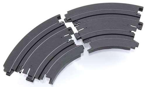 "70603 NEW AFX Curve 9/"" Radius 1//8 Turn HO Slot Car Track Sections 2"