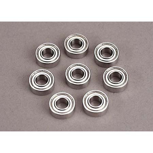 Traxxas Ball Bearings 5x11x4mm TRA5116 - Set of Eight Blue Rubber Sealed