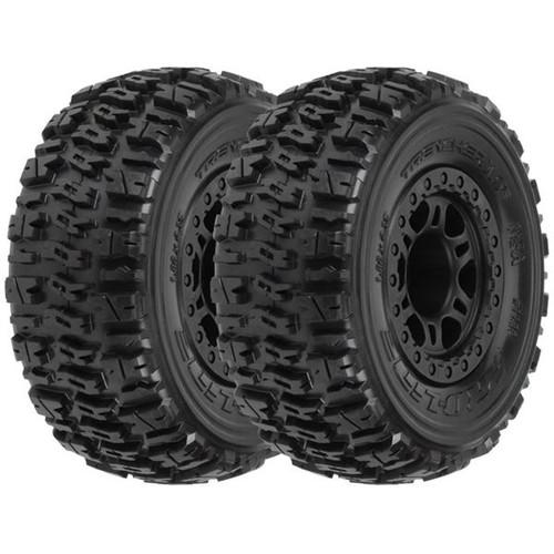 "Pro-Line Split Six 2.2/""//3.0/"" Red//Black Bead-Loc Wheels PRO271504 Short Course"