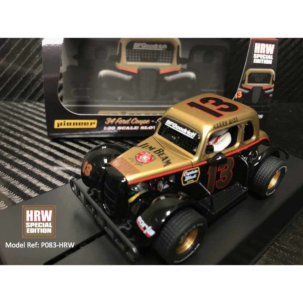 Pioneer 1934 Ford Coupe HRW Harry Wise #13 1/32 Slot Car (P083-HRW)