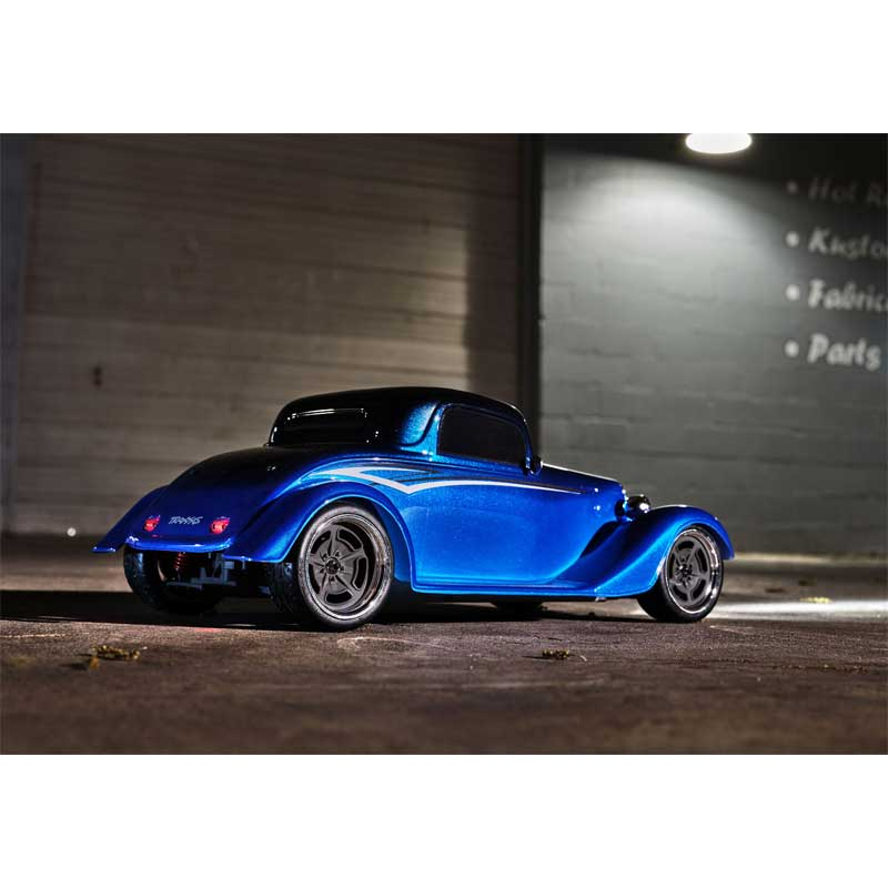 Traxxas 4-Tec 3.0 Factory Five '33 Hot Rod Coupe Blue Side View