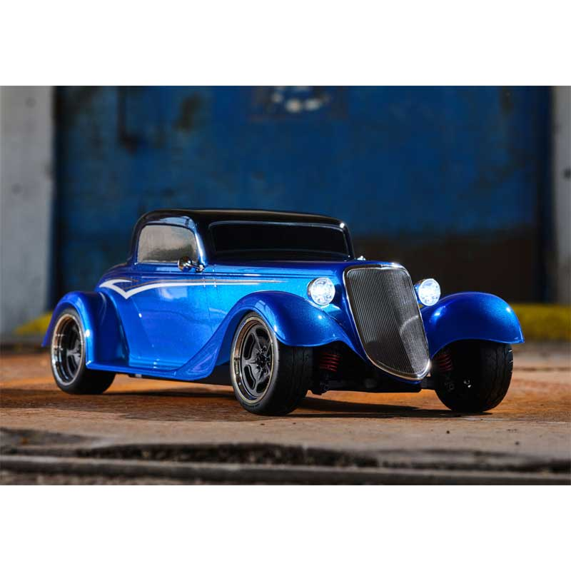 Traxxas 4-Tec 3.0 Factory Five '33 Hot Rod Coupe Blue Front View