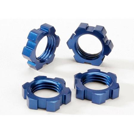 Traxxas Blue Anodized Wheel Nuts,17mm (4): Revo, T-Maxx 3.3, E-Maxx Brushless