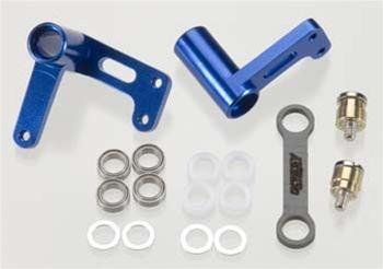 Integy Aluminum Steering Bellcrank Set for Traxxas Rustler, Slash, Bandit (Blue)