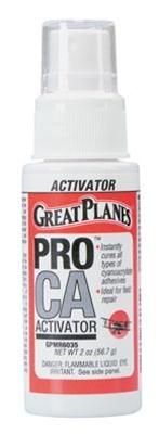 Great Planes Pro Foam Safe CA Activator with Pump - 2oz