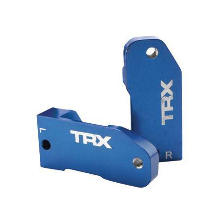 Traxxas Blue Aluminum 30-Degree Caster Block Set: Rustler, Stampede, Slash