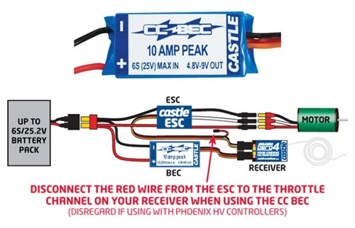 Castle Creations BEC (Battery Eliminator Circuit) for 2S-6S LiPo