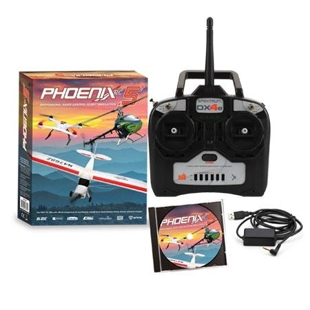 Phoenix R/C Pro V5.0 Flight Simulator w/Spektrum DX4e