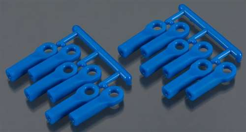 RPM Blue Long Rod Ends (12) for 1/10 Traxxas (replaces TRA5525)