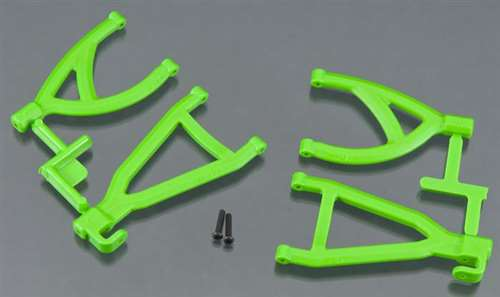 RPM Green Rear Upper/Lower Suspension A-Arms for Traxxas 1/16 E-Revo, Grave Digger