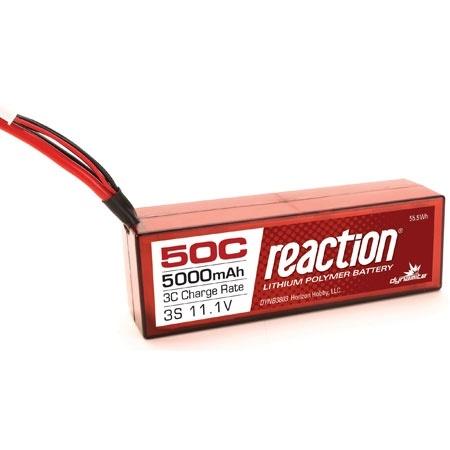 Dynamite Reaction 11.1V 5000mAh 3S 50C LiPo Battery w/EC3 Plug