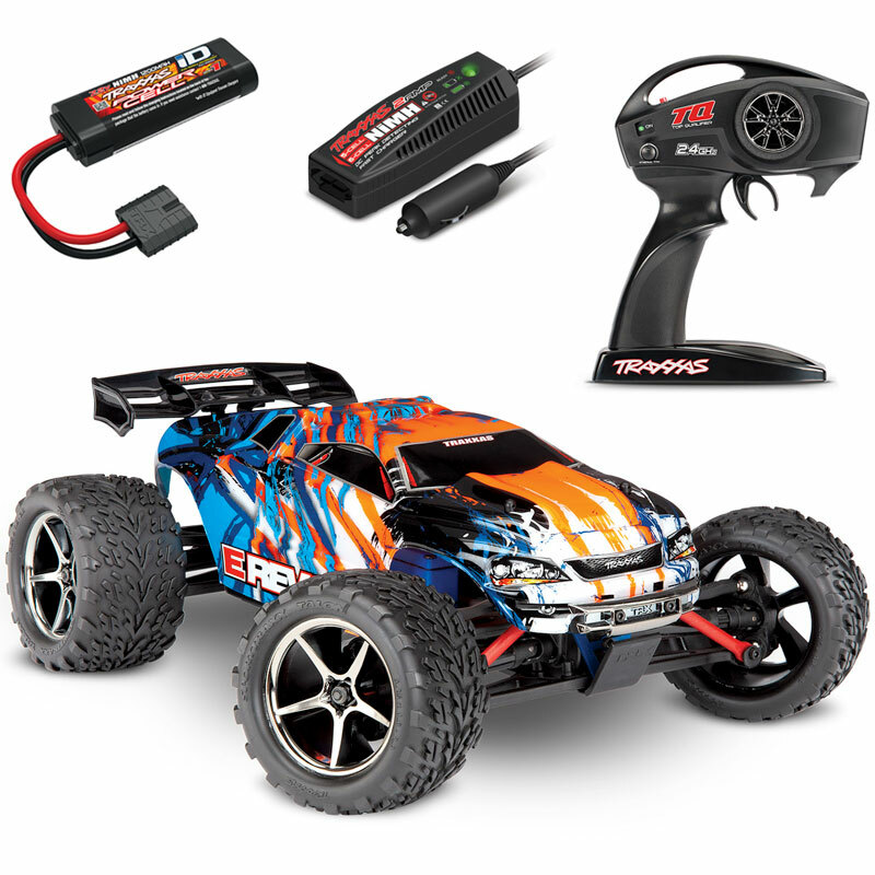 Traxxas 1/16 E-Revo Brushed 4WD RTR RC Monster Truck w/ID Battery & Quick Charger