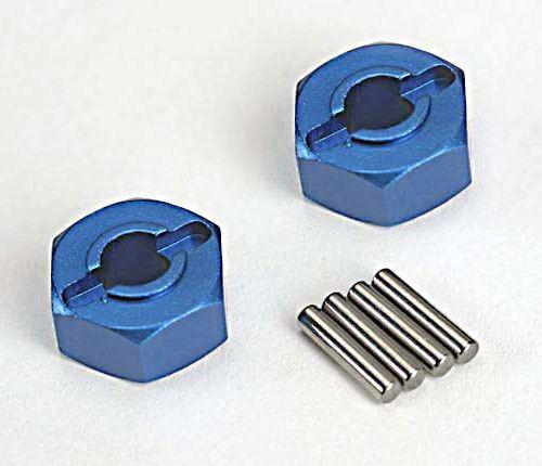 Traxxas 12mm Blue Aluminum Hexes (2)