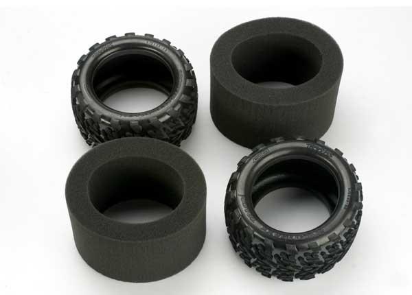"Traxxas Revo 3.8"" Talon Tires & Inserts for 3.8"" Wheels"