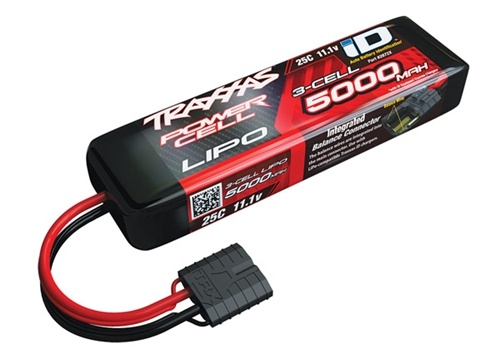 Traxxas 11.1V 5000mAh 3S LiPo Battery w/iD Connector