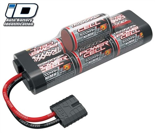 Traxxas 5000mAh 8.4V 7-Cell Hump NiMH Battery Pack w/iD Connector