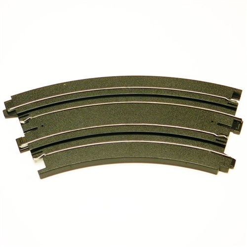 "AFX Curve 9"" Radius 1/8 Slot Car Track Sections (2)"