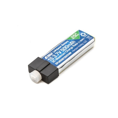 E-Flite 500mAh 1S 3.7V 25C LiPo Battery w/High Current UMX Connector