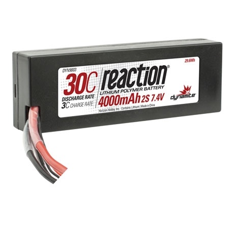 Dynamite Reaction 7.4V 4000mAh 2S 30C LiPo w/EC3