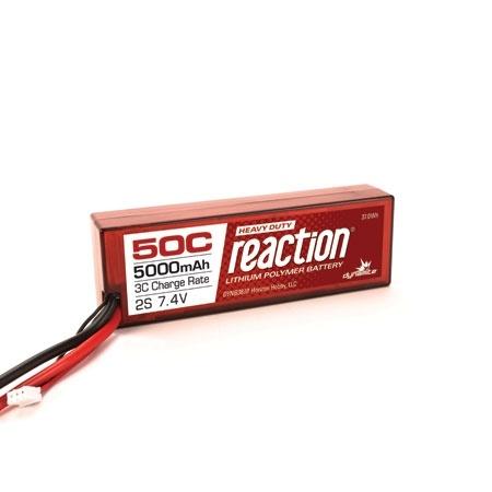 Dynamite Reaction HD 7.4V 5000mAh 2S 50C LiPo w/EC5