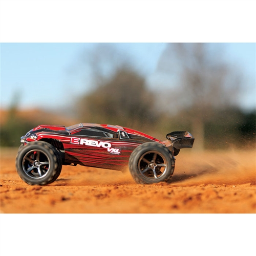Traxxas 1/16 E-Revo VXL Brushless 4WD RTR RC Monster Truck w/TSM, ID Battery & Quick Charger