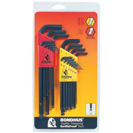 Bondhus Hex Ball Driver Standard & Metric Wrench Set