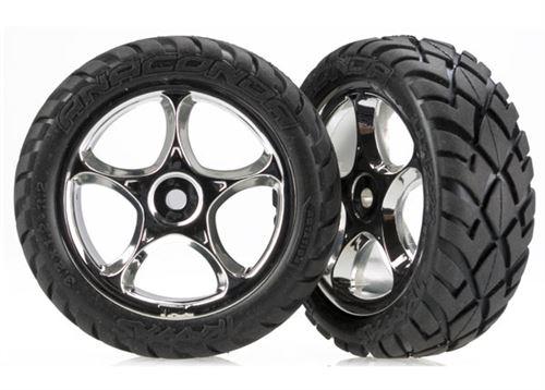 Traxxas Bandit Front Anaconda Street Tires & Chrome Wheels