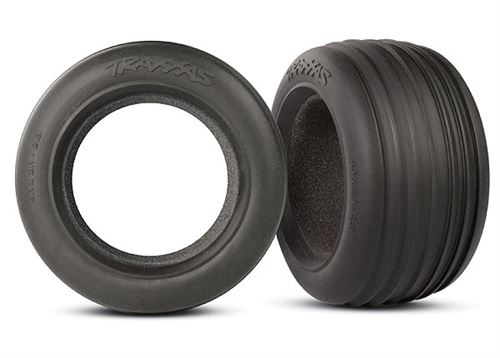 """Traxxas Ribbed 2.8"""" Front Tires & Foam Inserts (2)"""