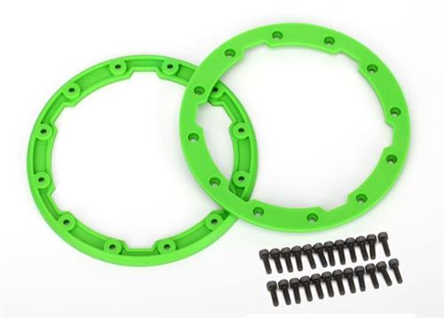 Traxxas Green Beadlock Style Sidewall Protector w/Screws for use with Geode 3.8 Wheels