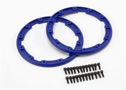 Traxxas Blue Beadlock Style Sidewall Protector w/Screws for use with Geode 3.8 Wheels