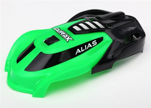 Traxxas Canopy, Alias, green/ 1.6x5mm BCS (self-tapping) (3)