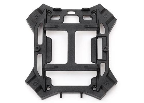 Traxxas Main frame, lower (black) / 1.6x5mm BCS (self-tapping) (4)