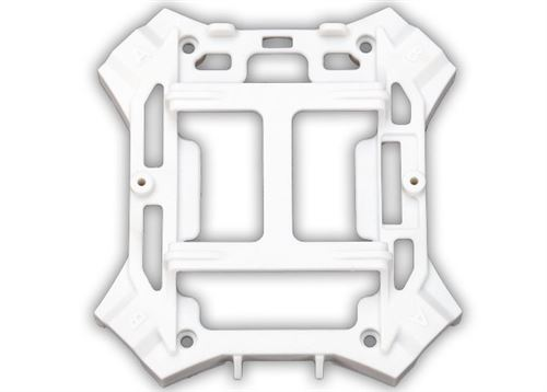 Traxxas Main frame, lower (white) / 1.6x5mm BCS (self-tapping) (4)