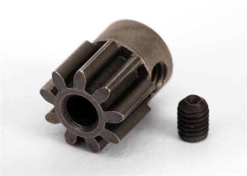 Traxxas Gear, 9-T pinion (32-p) (mach. steel)/ set screw