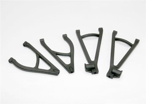 Traxxas Suspension arm set, rear, extended wheelbase (lengthens wheelbase 10mm) (includes upper right & left and lower right & left arms)