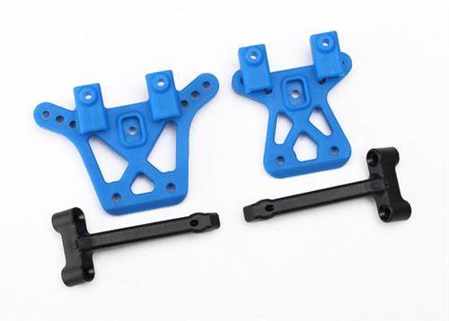 Traxxas Shock tower, front (1), rear (1)/ shock tower brace (2)